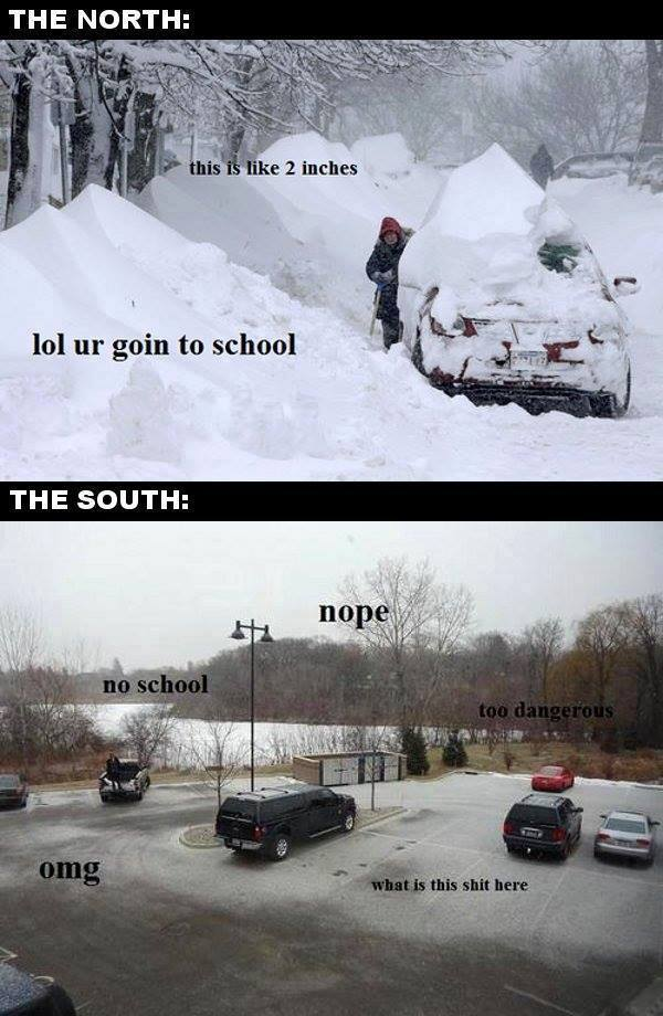 north vs the south