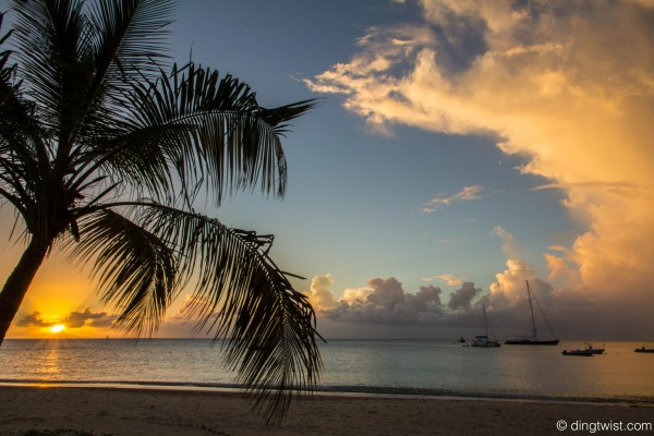 Crocus Bay Cloudy Sunset Anguilla