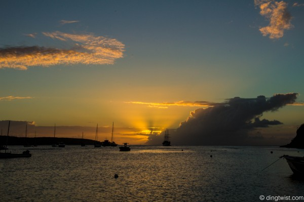 Dark Cloud Sunset Anguilla