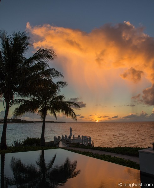 Raincloud over the Setting Sun Anguilla