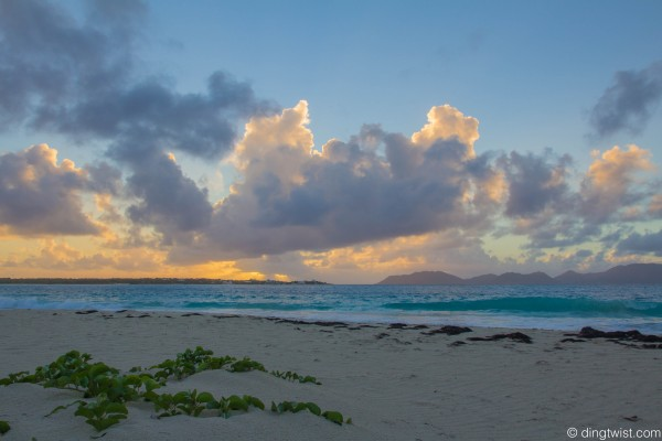 Sunrise on Rendezvous Bay Anguilla