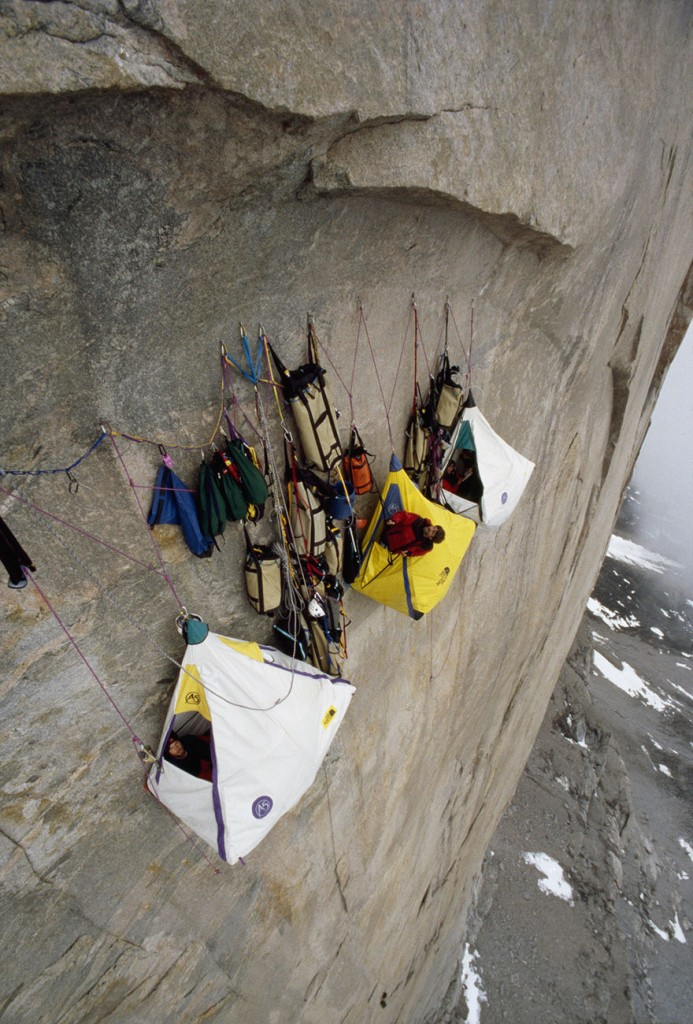 camping on a cliff
