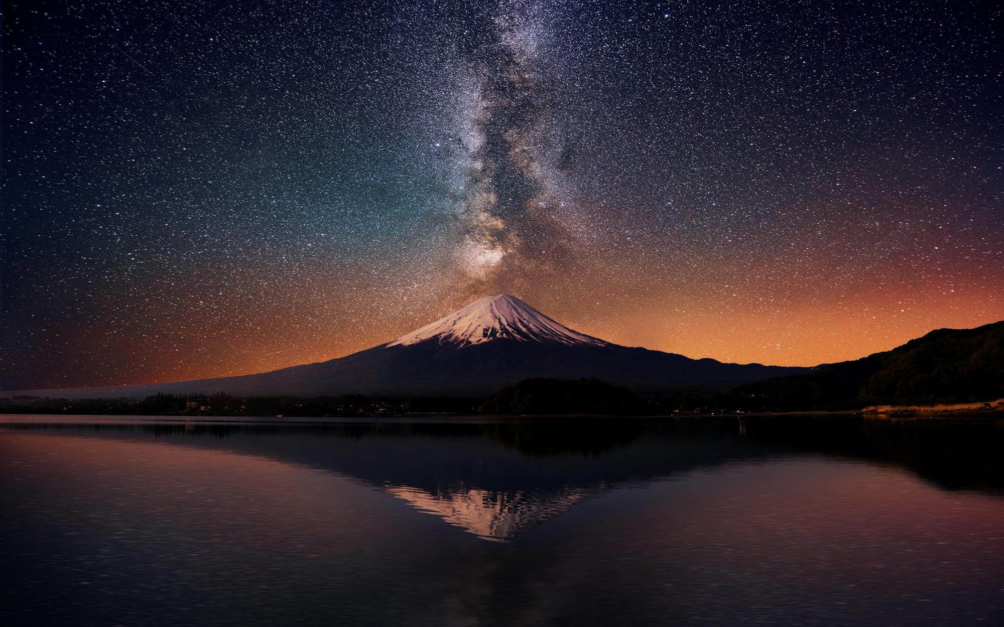 mt fuji & the galaxy