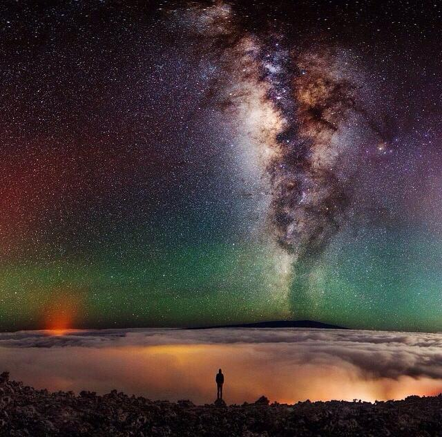 milky way from hawaii